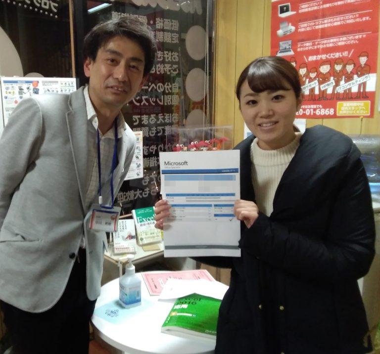 MOS合格者キュリオステーション長岡天神店